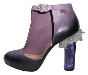 Chanel Bootie :ucite Crystal Ombre Purple Pumps