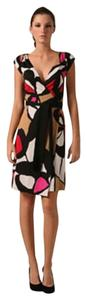 Diane von Furstenberg short dress Pink White Black Silk Wrap Dvf Abri on Tradesy