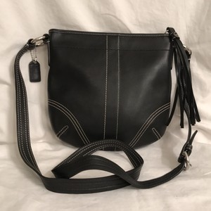 Coach Leather Messenger Travel Cross Body Bag
