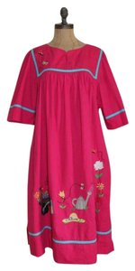 Other short dress PINK Vintage Bohemian Peasant Embroidered Patchwork on Tradesy