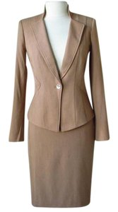 White House | Black Market New with tags Seasonless heathered brown skirt suit jacket size 8