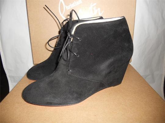 Christian Louboutin Ankle Compacta Wedge Black Boots