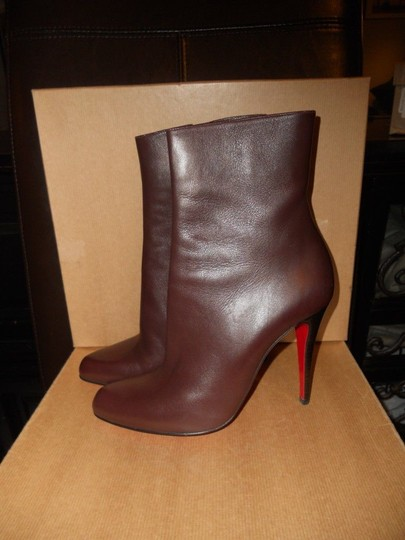 Christian Louboutin Ankle Paris Brown Boots