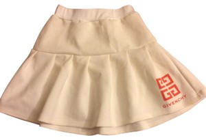 Givenchy Micro-mini Designer Superchic Mini Skirt White/Orange Imprints