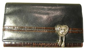 Brighton BRIGHTON LEATHER CLUTCH WALLET PURSE *ORNATE*