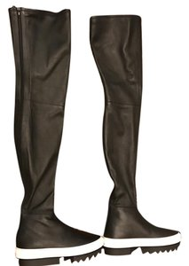 Givenchy Over-the-knee Leather Black Boots