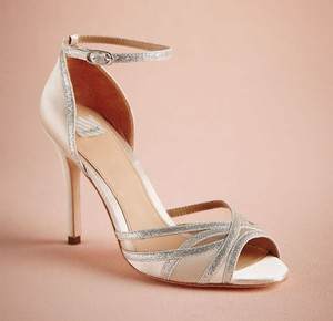 BHLDN Ivory Silver Hitherto Sterling Heels Formal Size US 9 Regular (M, B)