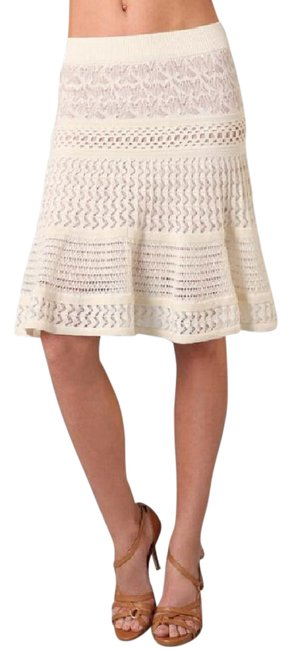 Preload https://img-static.tradesy.com/item/20728341/catherine-malandrino-cream-mixed-pointelle-knee-length-skirt-size-4-s-27-0-1-650-650.jpg