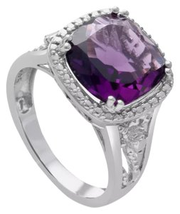 Other ** NWT ** 5.00 CT. HALO STYLE AMETHYST RING