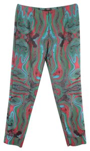 Shanghai Tang Cropped Capri Geometric Colorful Capri/Cropped Pants