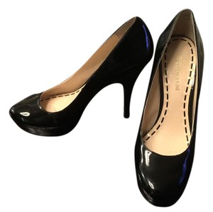 Enzo Angiolini Patent Leather Black Platforms