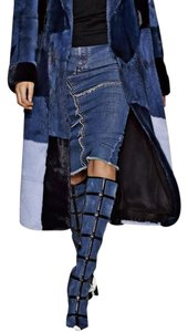 Tom Ford Denim Patchwork Boots