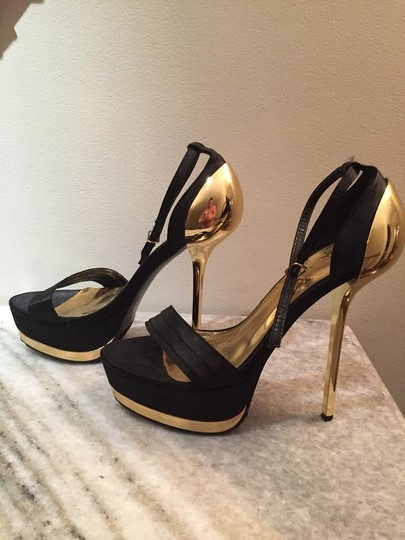 Liliana Black/Gold-Mirror-High Heel Pumps