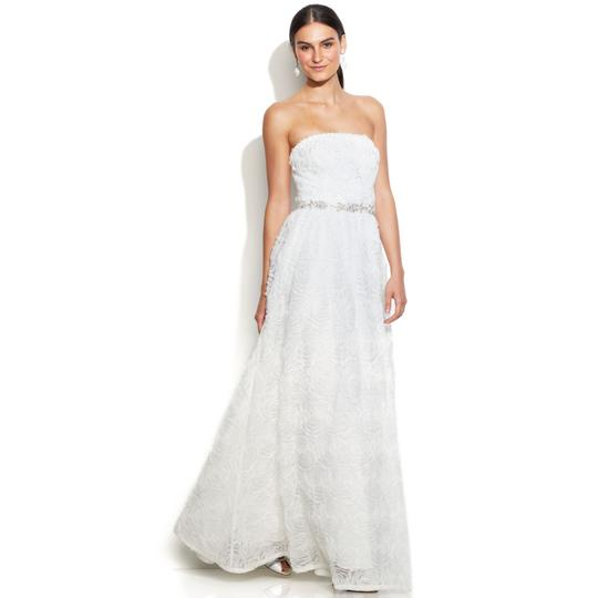 Preload https://img-static.tradesy.com/item/20728663/adrianna-papell-ivory-rosette-strapless-tulle-ball-gown-feminine-wedding-dress-size-12-l-0-0-540-540.jpg