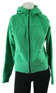 Lululemon Very Green Zip Up Scuba Hoodie