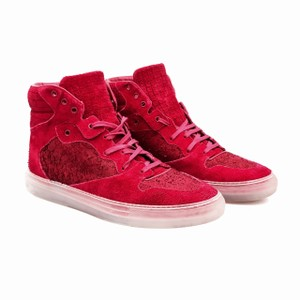 Balenciaga Leather Sporty Suede Distressed Designer Red Athletic