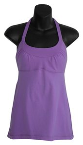 Lululemon stretch luon purple cage tank top