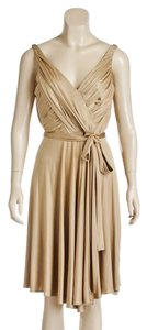 Carmen Marc Valvo short dress Tan on Tradesy