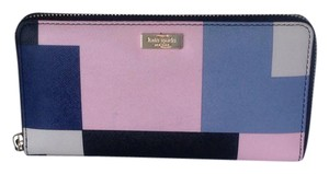 Kate Spade Wristlet in black, tan, pink, blue