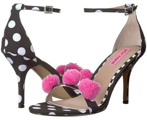 Betsey Johnson black, white, and pink Pumps