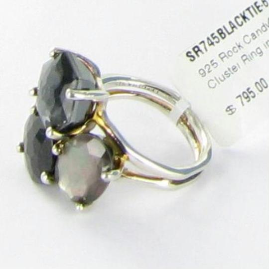 Ippolita Rock Candy Three Stone Cluster Ring Black Tie Sterling 925 Sz 6