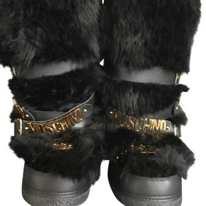 Moschino Black with Gold detailing Boots