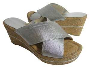 Donald J. Pliner metallic silver Sandals