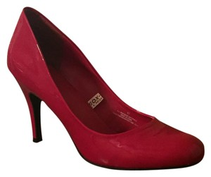 Mossimo Supply Co. Round Toe Red Patent Pumps