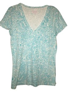 Lilly Pulitzer T Shirt Blue & white