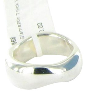 Ippolita Glamazon Thick Wavy Ring Polished Sterling Silver SR668 Sz 7