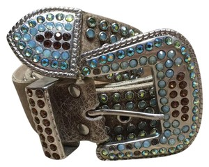 Leatherocn Rhinestoned Belt