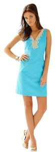 Lilly Pulitzer V-neck Shift Wedding Church Cotton Dress