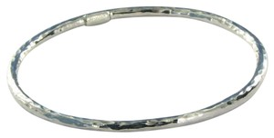 Ippolita Glamazon #1 Hammered Bangle Bracelet Sterling Silver 7.5