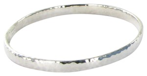 Ippolita Glamazon Bangle Bracelet SB048 Flat Hammered Sterling Silver 925 Sz 2