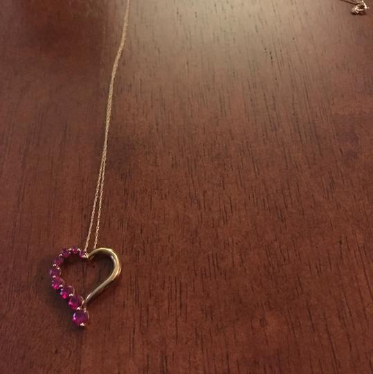 Other OFFERS!!! 10kt Gold Heart & Ruby Pendant Necklace