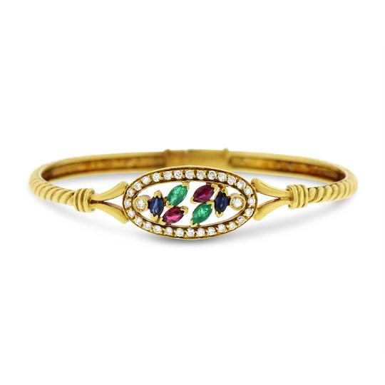 Preload https://img-static.tradesy.com/item/20729468/158-ct-natural-diamond-and-multi-color-gemstone-bangle-solid-18k-bracelet-0-0-540-540.jpg