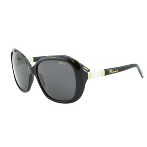 Chopard New Chopard SCH 149S Women Shiny Black Crystals & Leather Sunglasses