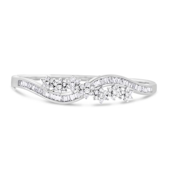 Preload https://img-static.tradesy.com/item/20729492/319-ct-natural-diamond-flower-swirl-bangle-in-solid-14k-white-gold-bracelet-0-0-540-540.jpg