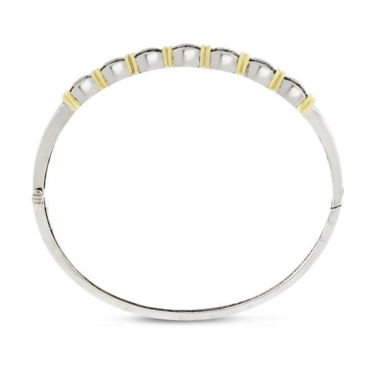 Other 0.98 Ct. Natural Diamond Classy Bangle In Solid 14k Two Tone Gold