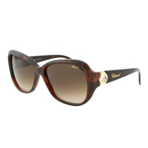 Chopard NEW Chopard Happy Diamonds SCH 148S Brown Floating Crystals Sunglasses