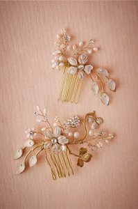 BHLDN Gold Twigs Honey Winter Garden Comb Large Hair Accessory