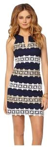 Lilly Pulitzer short dress Navy Lace Shift on Tradesy