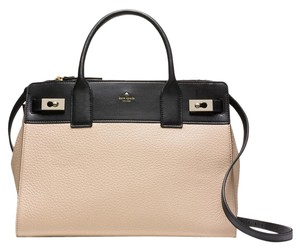 Kate Spade Willow Leather Satchel in Biscotto/Black