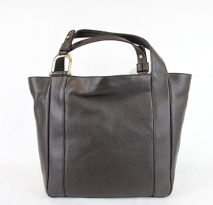 Gucci Greenwich Large Leather Tote in Brown