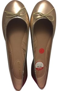 Lord & Taylor Ballet And Designer Gold Flats