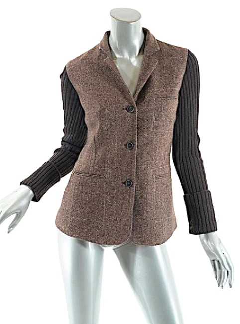 Preload https://img-static.tradesy.com/item/20729792/brunello-cucinelli-brown-browntan-cashmere-blend-herringbone-jacket-blazer-size-4-s-0-1-650-650.jpg
