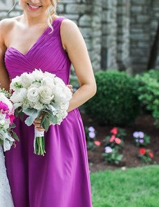 Mori Lee Mulberry Asymmetrical Chiffon Mori Lee Bridesmaid Dress - Style #196 Dress