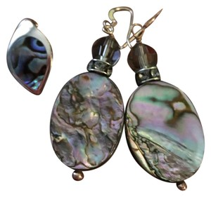 Other Sterling Silver & Abalone Shell Pendent and Earrings