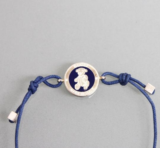 Gucci New Authentic Gucci Sterling Silver Teddy Bear Bracelet Blue 272871