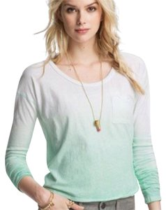 Free People T Shirt green and white